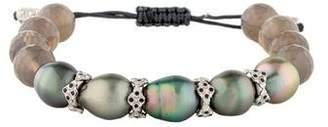 Armenta Pearl, Agate, & Black Sapphire Bracelet