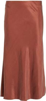 Intermix Misha Washed Satin Midi Skirt