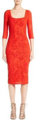 Women's Fuzzi Lace Midi Dress $385 thestylecure.com