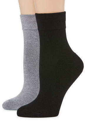 MIXIT Pillowsole2-pc. Ankle Socks - Womens
