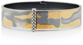 Bottega Veneta Rigid Silver Buckle Bracelet