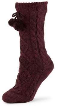 UGG Pom Pom Fleece Lined Crew Sock