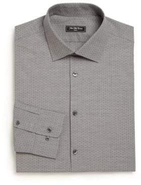 Saks Fifth Avenue Modern Regular-Fit Diamond Dress Shirt