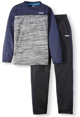 Hind Long Sleeve Color Block Raglan with Tricot Sweat Pant 2 Piece Set (Big Boy)