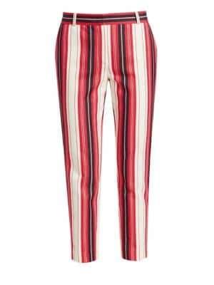 Loro Piana Derk Gypsy Stripe Cropped Trousers