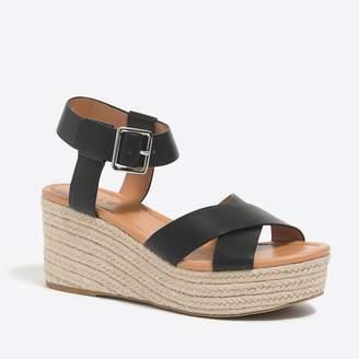 J.Crew Factory Flatform espadrille sandals