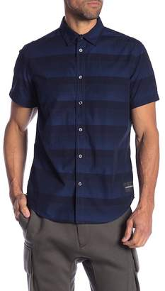 Calvin Klein Gradient Stripe Short Sleeve Regular Fit Shirt