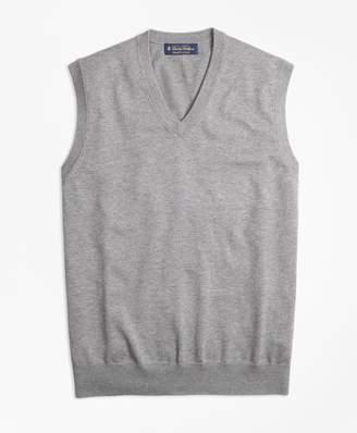 Brooks Brothers Supima Cotton V-Neck Vest