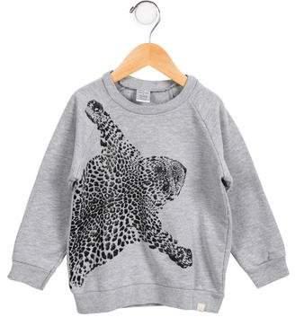 Atsuyo et Akiko GIrls' Textured Crew Neck Sweatshirt
