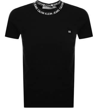 Calvin Klein Jeans Crew Neck Logo T Shirt Black
