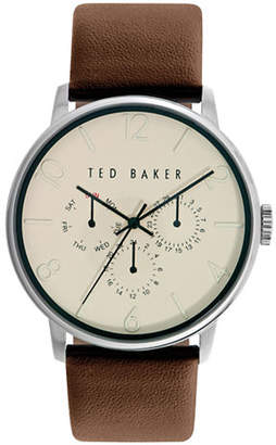 Ted Baker Mens Multifunction Leather Strap Watch 10023493