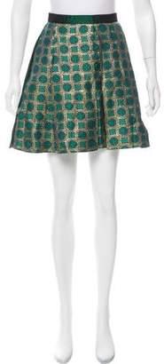 Kenzo Pleated Brocade Skirt