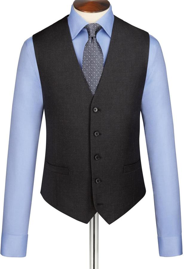 Charles Tyrwhitt Charcoal Clarendon twill Classic fit business suit