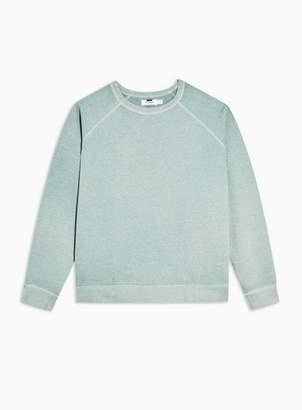 Topman Mens Green Mint Marl Sweatshirt