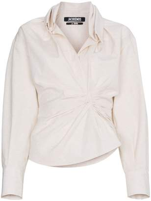 Jacquemus Ruched Front Shirt
