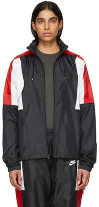 Nike Black and Red NSW Re-Issue Woven Jacket