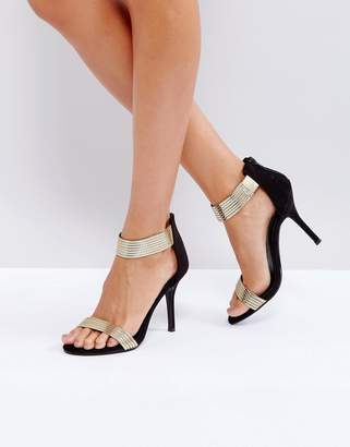 Little Mistress Barely There Metallic Heeled Sandal