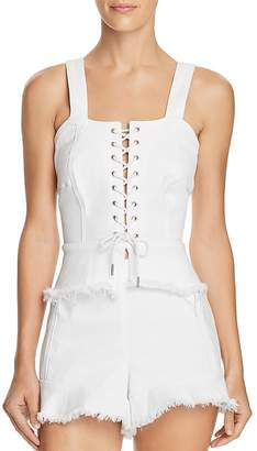 Blank NYC BLANKNYC Lace-Up Denim Bustier Top - 100% Exclusive