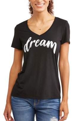 EV1 Dream V Neck Graphic Tee Women's