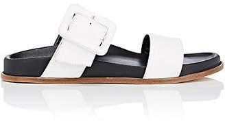 Barneys New York Women's Leather Double-Band Slide Sandals - White