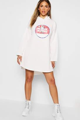 boohoo Disney Vintage Minnie Hooded Swing Sweatshirt Dress