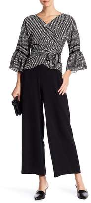 Max Studio Cropped Wide Leg Crepe Pants