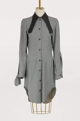 Loewe Leather collar long shirt