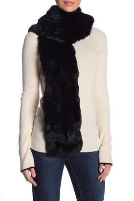 Surell Oversized Genuine Rabbit Fur Scarf