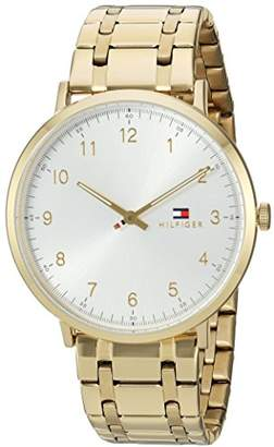 Tommy Hilfiger Men's 'Sophisticated Sport' Quartz Tone and Gold Plated Casual Watch(Model: 1791337)