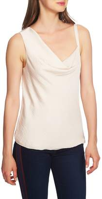 1 STATE 1.STATE Asymmetrical Drape Neck Hammered Satin Camisole