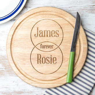 Dust and Things Personalised Wooden Venn Diagram Cutting Board