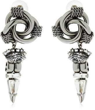 Halo & Co Circles Earrings W/ Swarovski Crystals