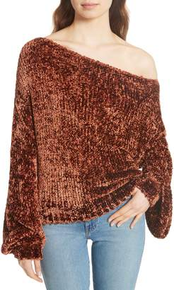 Caroline Constas Chenille One-Shoulder Sweater