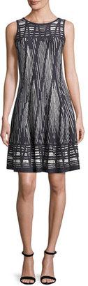 NIC+ZOE Dashed Diamonds Twirl Dress, Multi $228 thestylecure.com