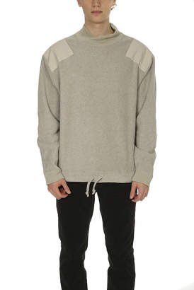 Remi Relief Fleece Military Mock Neck Sweater