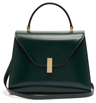 Valextra Iside Medium Leather Bag - Womens - Dark Green