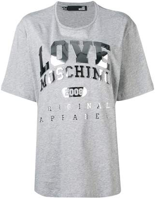 Love Moschino metallic logo print T-shirt