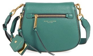 Marc Jacobs Small Recruit Nomad Pebbled Leather Crossbody Bag - Blue $375 thestylecure.com