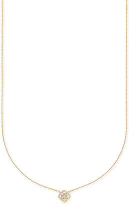Kendra Scott Fleur 14k Pendant Necklace In White Diamond