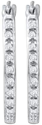 Collection 18 DazzlingRock Collection 1/8 Total Carat Weight DIAMOND FASHION HOOPS