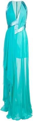 Rubin Singer deep V-neck gown