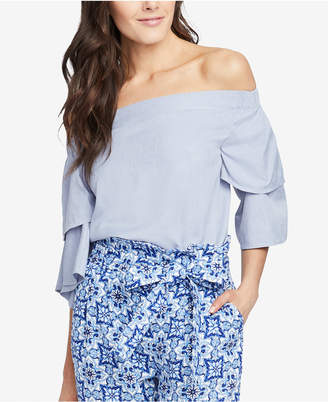 Rachel Roy Off-The-Shoulder Tiered-Sleeve Top