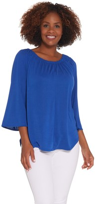 Kelly By Clinton Kelly Kelly by Clinton Kelly 3/4 Flutter Sleeve Knit Top