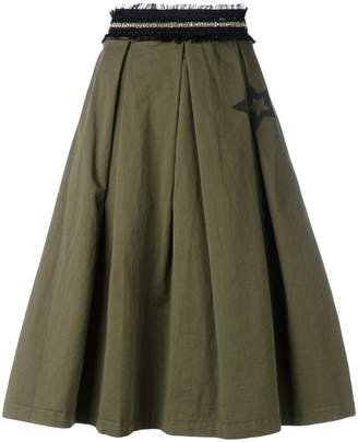 History Repeats frayed waistband skirt