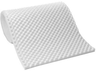 Adorable Pillows Lightweight Textured Eggcrate Foam 1/2 Mattress Topper Pad, All Sizes