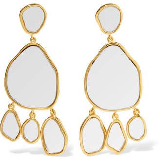 Aurelie Bidermann Ciottolo Gold-plated Mirror Clip Earrings