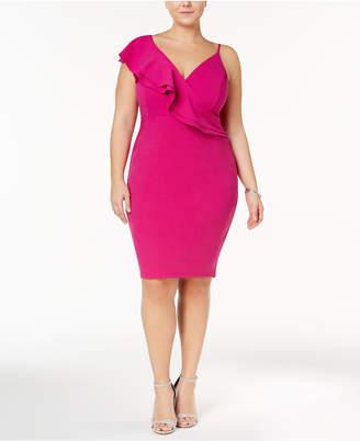 Soprano Trendy Plus Size Top Asymmetrical Bodycon Dress