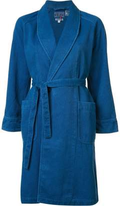 Blue Blue Japan shawl collar coat