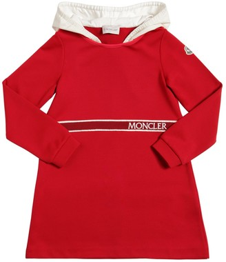 Moncler Hooded Acetate Jersey Dress