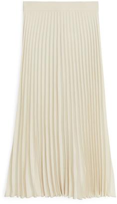 Arket Pleated Crepe Skirt
